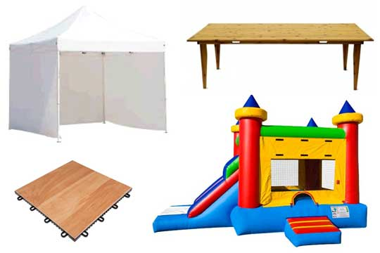 Party rentals in Kansas City, Parkville, Platte City, Gladstone, Liberty Missouri