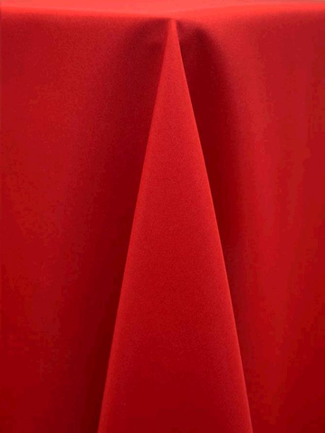 90 Inch Round Red Tablecloth Als
