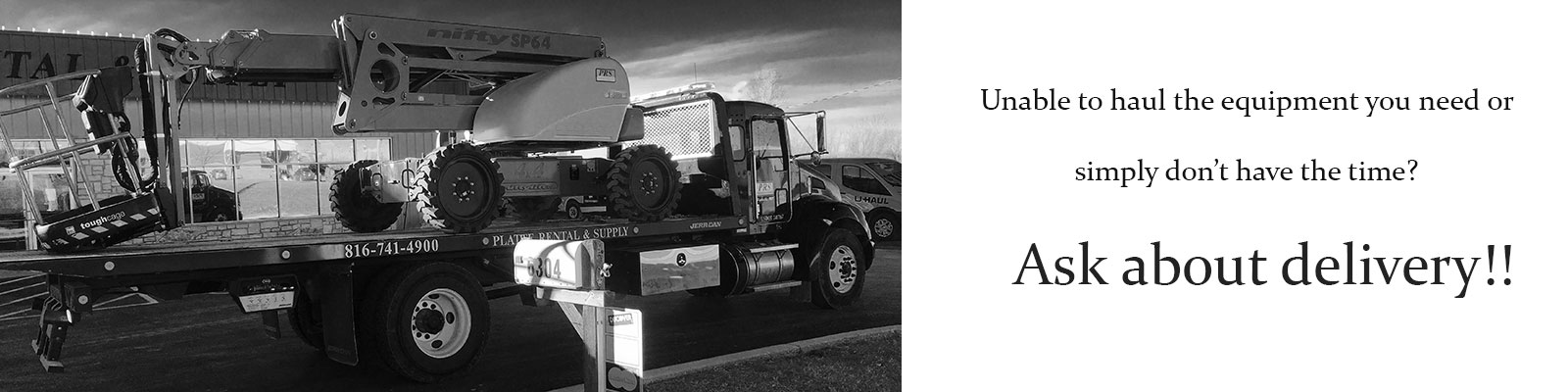Equipment rentals in the Kansas City Metro Area